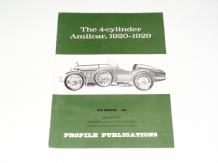 4-Cylinder Amilcar 1920-1929  : The (PROFILE 62)